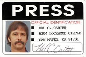 press official identification no 3 id card