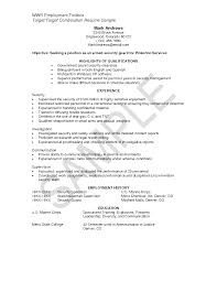 Sample Resume Objectives Call Center Representative by Security Resume Template Free Resume Example And Writing Download