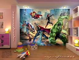 kids room ideas marvel comics street fighting avengers