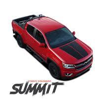 chevy colorado chevy colorado summit hood dual racing stripe factory oe style