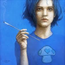 Jose Luis Munoz Luque - the-blue-smoker-caterpillar-from-alice-in-wonderland-jose-luis-munoz-luque
