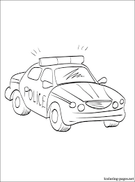 police car coloring coloring pages