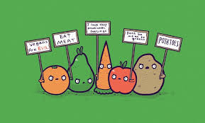 Emotional Eating Meme - vegetables protest the eating of their food people