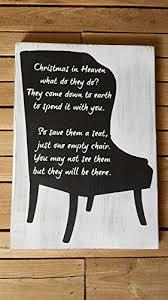 Empty Chair Poem Amazon Com 11x16