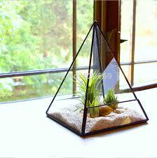 middle size vases crystal transparent glass succulents vase flower