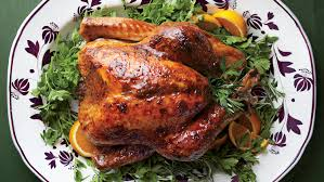 practical picture of a thanksgiving turkey with brown sugar glaze 12714