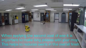 how to and wax a floor by with text