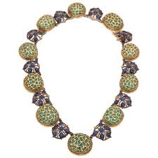 gold beaded necklace images Regal emerald bead gold necklace set for sale at 1stdibs jpg