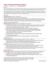 Sample Soccer Resume by Reseume Formats U0026 Samples Prep Your Path Rye Ny