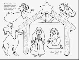 marvelous printable nativity coloring pages for kids with nativity