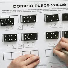dominoes place value game for kids still playing