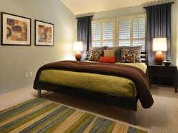 amazing bedroom colors brown and blue white chair rail and