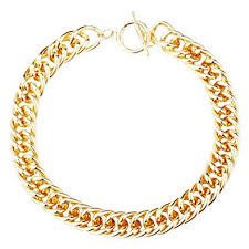 gold necklace chunky chain images Qiji gold tone aluminum chain necklace chunky choker jpg