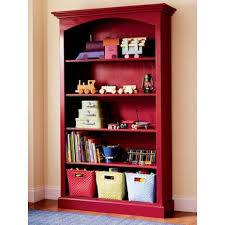 red bookcase home vid