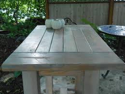 ana white farmhouse table modified to become an outdoor kitchen