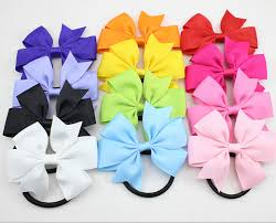 hair bow tie elastic bow picture more detailed picture about new ribbon hair