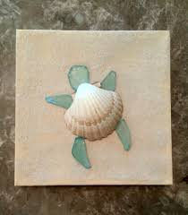 turtle canvas made by kristina gavigan painted canvas with real