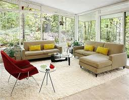 mid century modern living room ideas grey brown velvet sofa cushion living room wall small