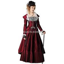 Steampunk Halloween Costume Aliexpress Buy Red Steam Punk Dress Halloween Costumes Dress