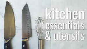 Basic Kitchen Essentials Kitchen Essentials U0026 Utensils For Food Youtube