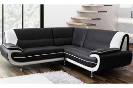 Black Leather Corner Sofa Leather Corner Sofa Suite Black White