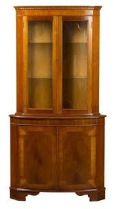 Yew Filing Cabinets English Antique Style Yew Corner Cabinet Wooden Shelves Shelves