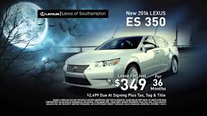 lexus deals on new cars 2016 es 350 lease special lexus of southampton ny dealer youtube