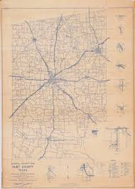 Highway Map General Highway Map Hunt County Texas The Portal To Texas History