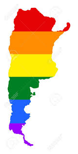 South America Flags Argentina Pride Map With Rainbow Flag Colors South America