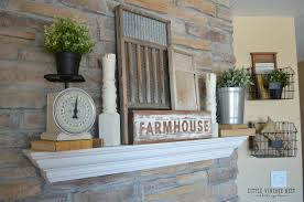 fresh and simple farmhouse mantel little vintage nest