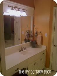 Diy Bathroom Mirror by Bathroom Mirror Frame This May Be A Great Way To Cover The Ugly