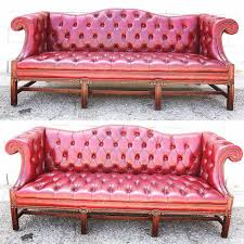 Tufted Chesterfield Sofa by Red Tufted Leather Chesterfield Sofa Chairish
