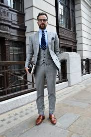 light gray suit brown shoes sartorial suits wgsn insider