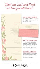 Seal And Send Wedding Invitations What Are Seal And Send Wedding Invitations