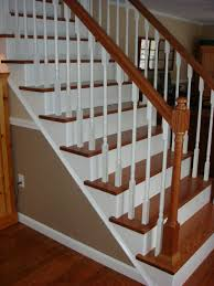 home interior railings wood handrails from carpet to wooden stair treads guest remodel