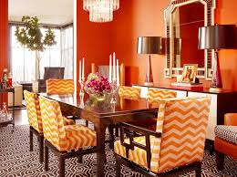 Upscale Dining Room Furniture by Awesome Orange Dining Room Chairs Photos Home Design Ideas