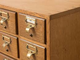 vintage library index card cabinet sold scaramanga