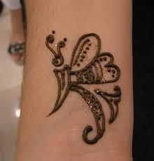 butterfly henna tattoo design
