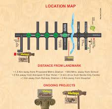 Greater Noida Metro Map by Vintage Avenue Noida Extension 1bhk 2bhk Flat Price
