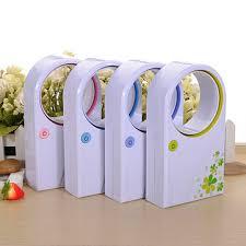 Desk Top Air Conditioner Mini Bladeless Fan Refrigeration No Leaf Air Conditioner Usb