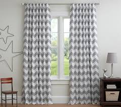 Gray Blackout Curtains Chevron Blackout Panel Pottery Barn
