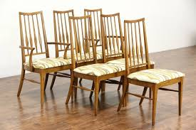 Midcentury Modern Dining Chairs - midcentury modern set of 6 oak 1960 vintage dining chairs signed