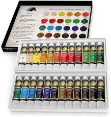 amazon com acrylic paint set 24 x 12ml art paints artist