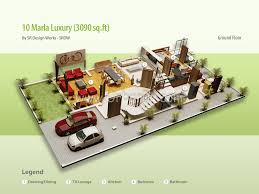 10 marla house plan 3d arts
