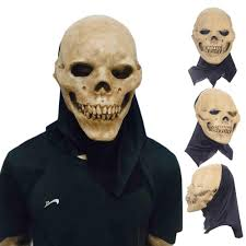 Latex Halloween Costumes Scary Party Masks Latex Skull Mask Head Face Breathable