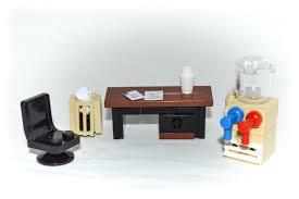 lego furniture office desk set w desk u0026 chair waste basket