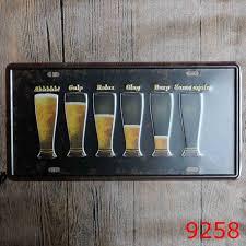 aliexpress com buy drink beer process car metal license plate