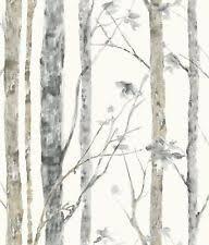 Best Peel And Stick Wallpaper by Birch Tree Wallpaper Ebay