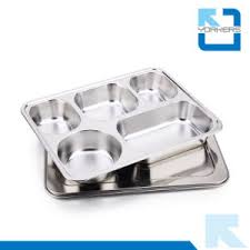 Stainless Steel Buffet Trays by China High Quality 5 Compartments Stainless Steel Food Tray Plate