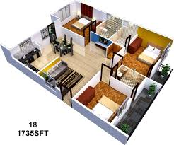 3 Bhk Apartment Floor Plan by 1500 Sq Ft 3 Bhk 3t Apartment For Sale In Sai Sumukha Properties